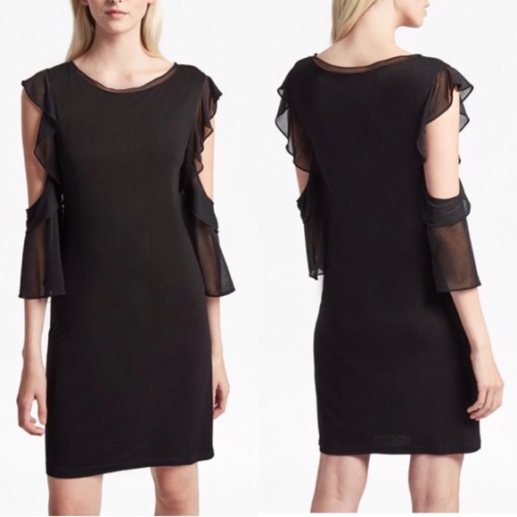 French Connection Dresses & Skirts - NWT French Connection Black Cold Shoulder Dress